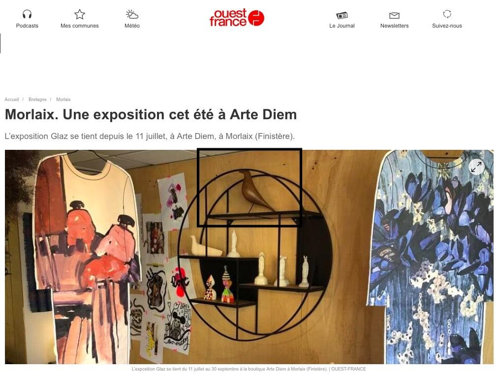 Ouest France - Collab KER MER @ ARTE DIEM
